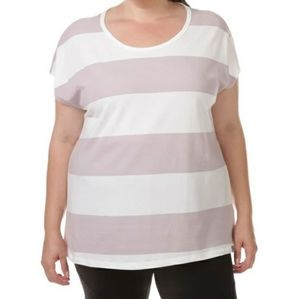 Marc New York plus rugby tunic tee striped